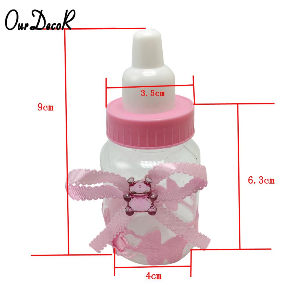 60pcs/lot Milk Bottle Candy Box Party Supplies Baby Feeding Bottle ...