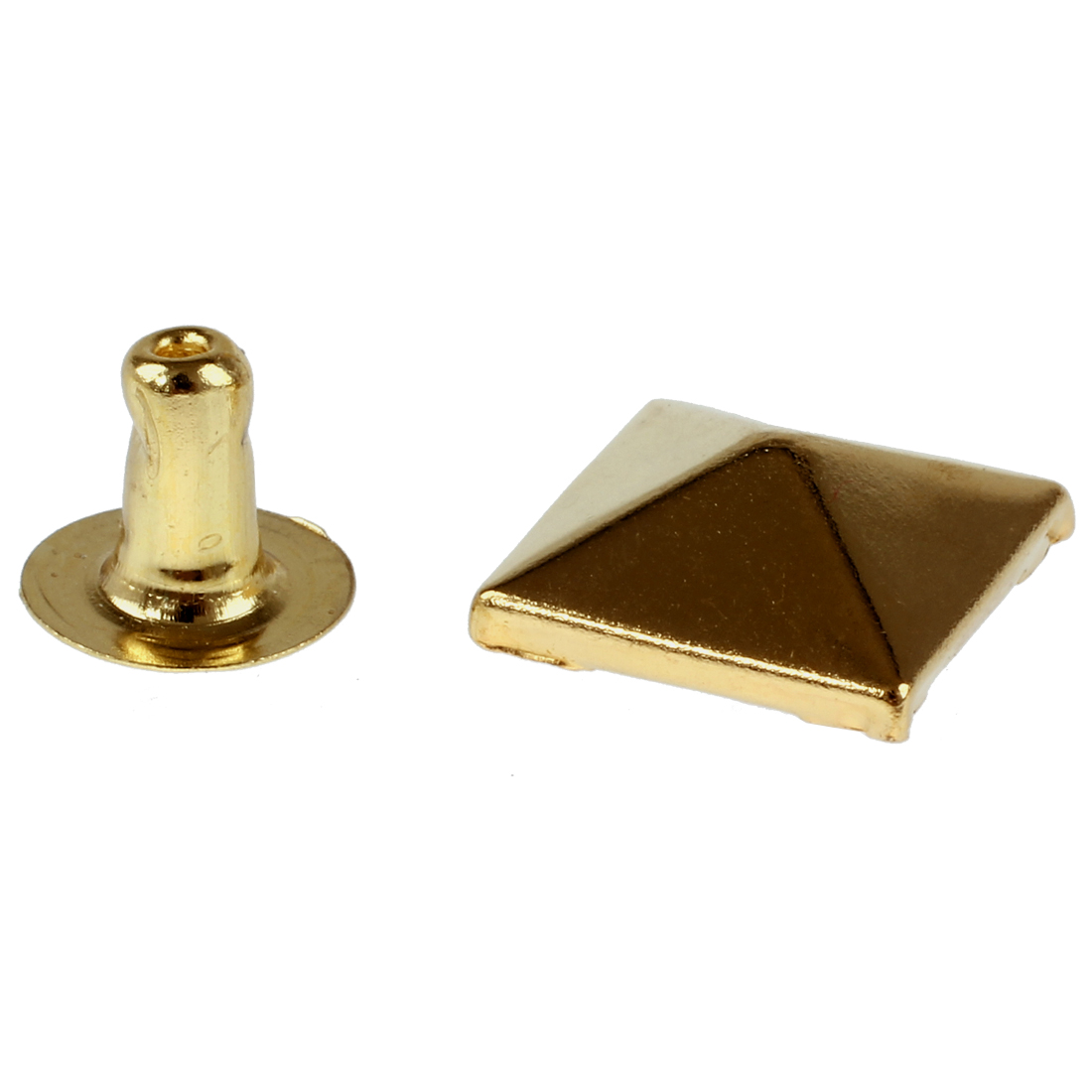 Set Gold Square Pyramid Spike Rivet Studs Spots Rock Punk 10mm-in Garment Rivets Home