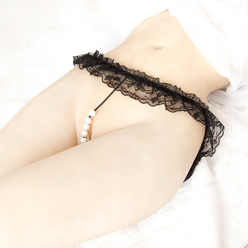 Buy Sexy women G string Pearls thong Beading Strings massaging beads sex hot panties Girl underwear erotic lingerie Toy 4 Kinds