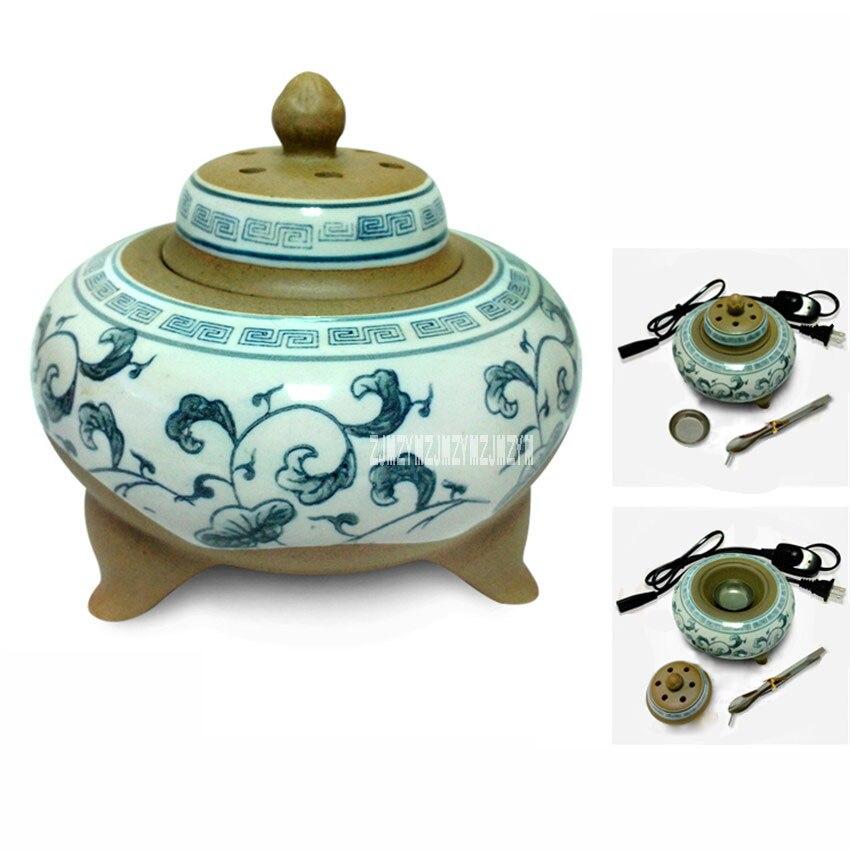 Nouveauté brûleur d'encens en céramique de trois pieds XXL023 brancher le four de poterie grossière