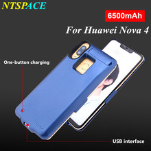 External Battery Charger Case For Huawei Nova 4 Portable Power Bank Charging Cover 6500mAh Extended Phone Battery Power Case