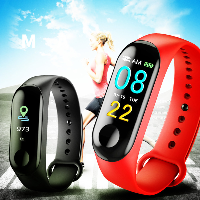 Binssaw Men Women Sport Smart Bracelet Watch Bluetooth Clock Remote Camera Heart Rate Blood Pressuresleep Monitor Pedometer Band Digital Watches