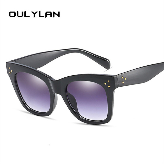 Oulylan Classic Cat Eye Vintage Oversized Gradient UV400 Sunglass 2