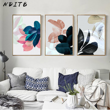 Scandinavian Picture Tropical plant Poster Nordic Style Botanical Leaf Wall Art Canvas Print Painting Modern Living Room Decor