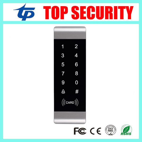 Metal access control reader with touch keypad surface door access control system 1000 users capacity card reader waterproof touch keypad card reader for rfid access control system card reader with wg26 for home security f1688a