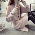 Women Sweater 2016 Winter New Fashion Knitted Pullovers High Quality Solid Sweaters Warm Soft Pull Femme Sweter Mujer SZQ041