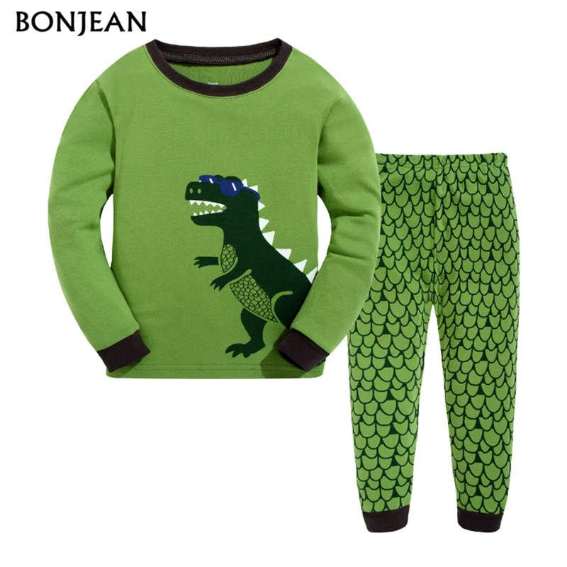 Kids Clothes Pajamas Boys Sets 2018 Children Sleepwear Dinosaur Children Clothing Pajamas Child sleep Spring winter Pajamas 2018 children pajamas clothing set boys