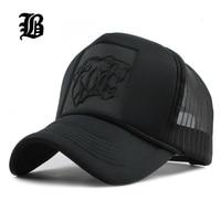 FLB 2017 Hip Hop Black Leopard Print Curved Baseball Caps Summer Mesh Snapback Hats For