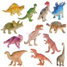 12pcs/lot 15-18cm Dinosaur Plastic Jurassic Play Model Action & Figures T-REX DINOSAUR Toys for Children With no Box -B116