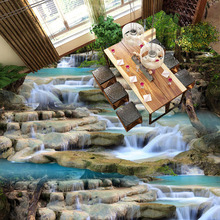 3D Running Water Waterfall Nature Landscape