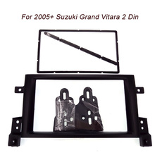 Free shipping Top Quality Double 2 Din Car Fascia For Suzuki Grand Vitara 2005 Face Frame