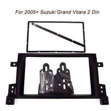 Бесплатная доставка одежда высшего качества двойной 2 Дин фасции для Suzuki Grand Vitara 2005 + уход за кожей лица рамки комплект крышка Радио стерео