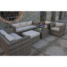 Торговая Гарантия Продвижение атмосферостойкий винтажный ротанговый Европейский стиль классический диван