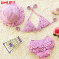 UMLIFE 1-10 Years Old Girls Bikini Set Baby Girl Lovely Lace Swimsuit With Hap Children Beach Wear Traveling Hot Spring Swimwear