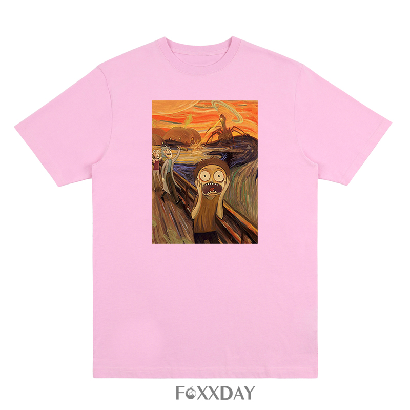 Hot Sale T-shirt Anime Rick and morty the scream Print Tee Shirt O-Neck Short Sleeve Anime T Shirt Homme Rick Morty Camiseta