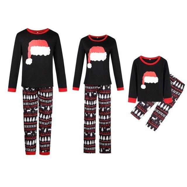 e712d40e8c 2018 Xmas Moose Fairy Christmas Family Pajamas Set Adult Kids Sleepwear  Nightwear Pjs Photgraphy Prop Party