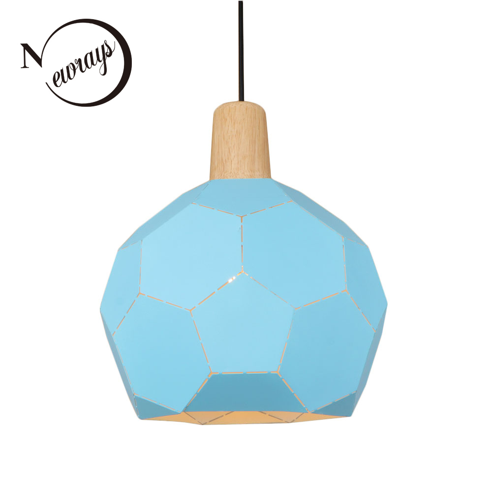 Loft countryside iron pendant light LED E27 modern Nordic hanging lamp with 3 colors for living room shop bedroom restaurant