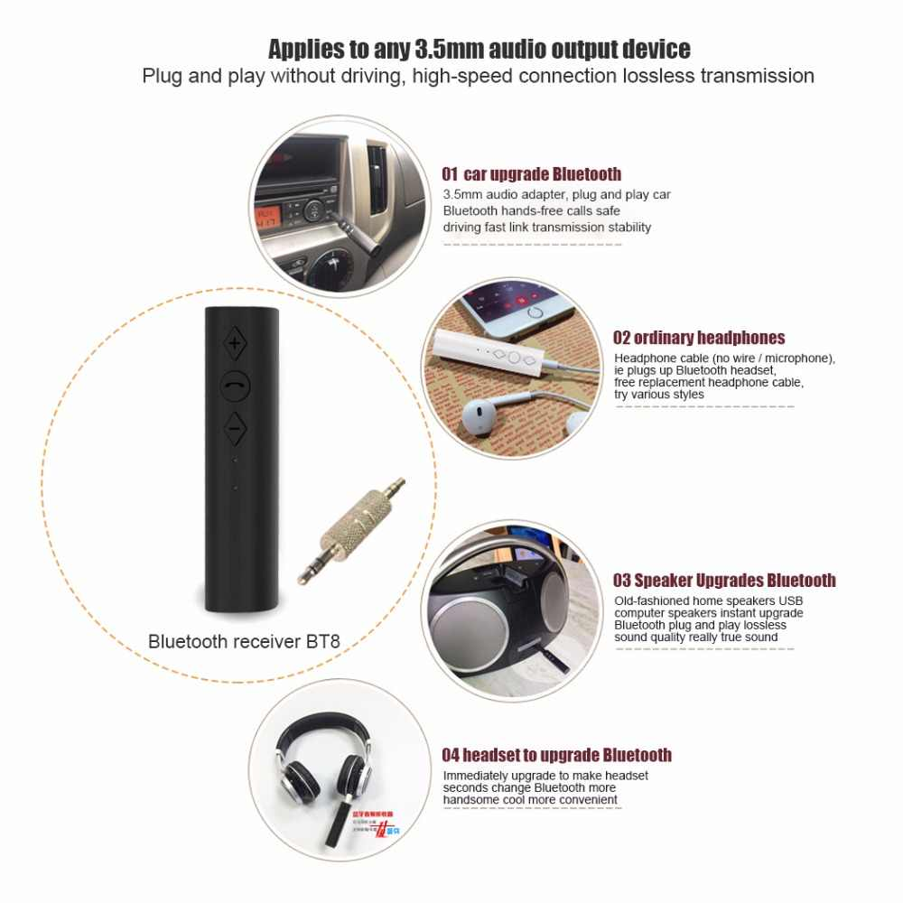 Ollivan Clip-on Wireless Adapter Bluetooth 4 2 Receiver 3 5mm Jack  Bluetooth Audio Music Receiver Adapter for Speaker Headphone