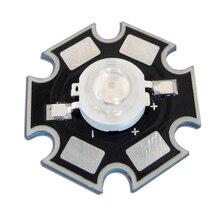 10 шт./лот 20 мм Star База 1 Вт 395nm ~ 405nm УФ Ультрафиолетовое фиолетовый винограда светодиодные лампы излучатель 3.2 В ~ 3.4 В 300ma = детектор валюты