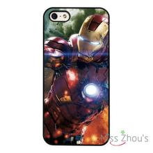 Ironman Superhero Marvel Action back skins mobile cellphone cases cover for iphone 4 4s 5 5s