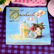 Орхидея салфеткой праздничный бумажной шт./упак./lot декупаж маслом кафе картина салфетки партия