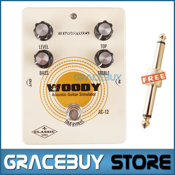 Electric Guitar Pedal Bass True Bypass Effect White Custom Biyang Controls Level/ Top/ Treble Guitarra Pedales New hot sale top quality white lp custom guitar with golden hardware electric guitar free shipping white color