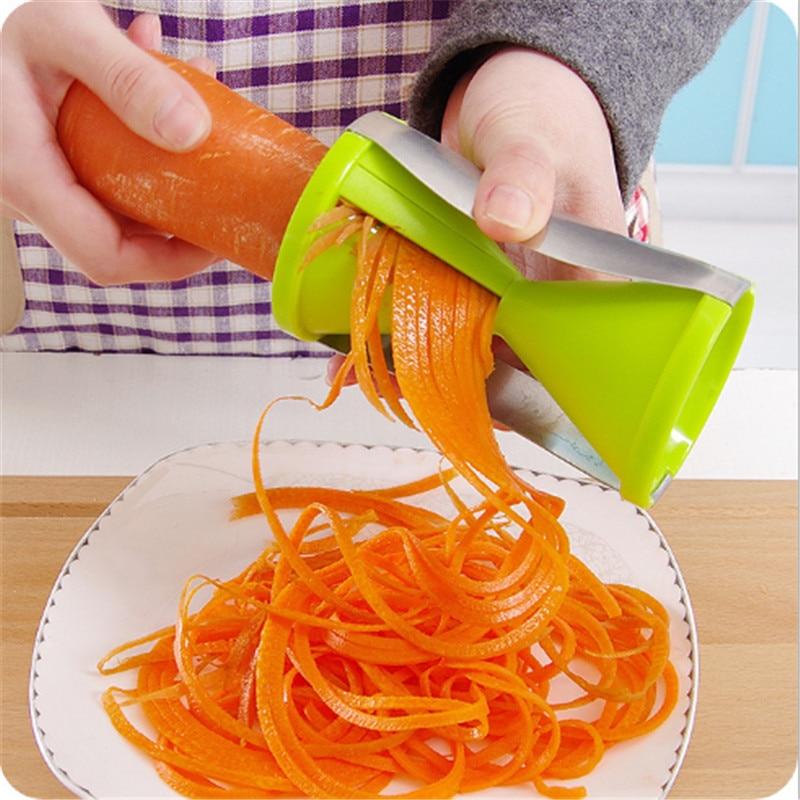 Vegetable Fruit Spiral Slicer Carrots Julienne Cutter Peeler Kitchen Gadgets JD2
