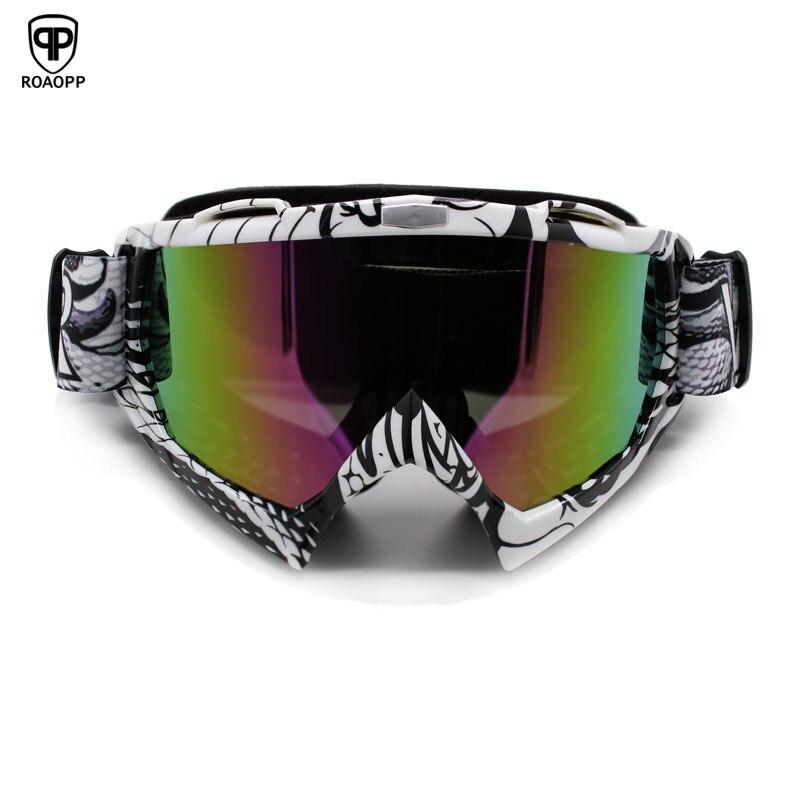ROAOPP Mann Frauen Gafas Motorrad Brille Gläser MX Off Road Dirt Bike Motorrad Helme Goggles Ski Sport Brille Masque Moto