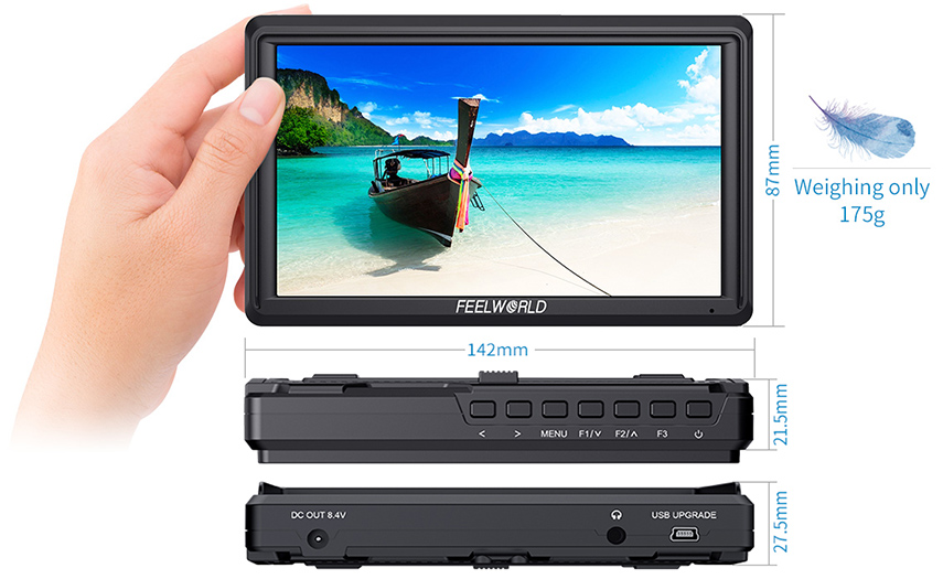 FEELWORLD FW568 5 5 inch DSLR Camera Field Monitor 4K HDMI Full HD  1920x1080 LCD IPS DC Output Video Focus Assisting for Cameras