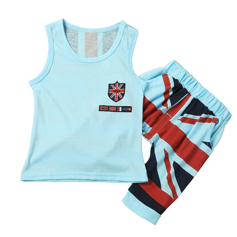 ARLONEET Kids Baby Boys Union Jack Outfits Vest Tops Pants Set Clothes Feb7/P ...