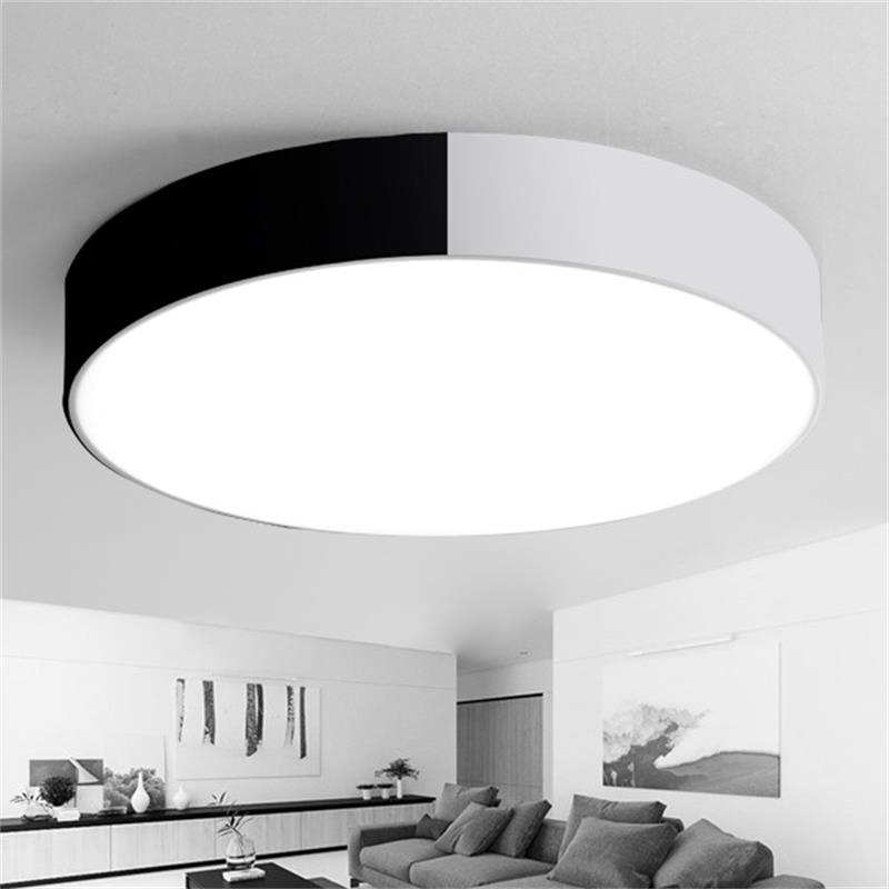 Modern LED ceiling lights for kids 12W 20W 24W 36W,Round Led Ceiling Lamp for Living room bedroom Decoration, White/Black 220V noosion modern led ceiling lamp for bedroom room black and white color with crystal plafon techo iluminacion lustre de plafond