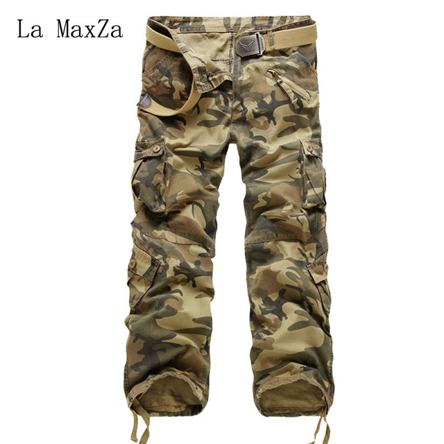 c41e597d1bb Tactical Pants Male Camo Jogger Casual Plus Size Cotton Trousers Multi  Pocket Military Style Army Camouflage Men s Cargo Pants