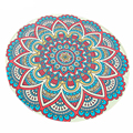 Casual Round Totem Printed Hippie Chiffon Throw Roundie Mandala Towel Yoga Picnic Mat Beach Bikini Cover Up Shawl Pashmina Aug18