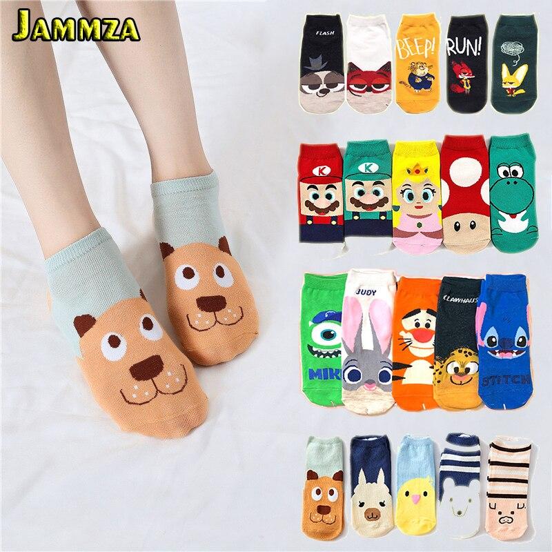 New Ankle Cartoon Women   Socks   for Summer Cotton Korea More Style Fashion Cute   Socks   Kawaii Funny Pattern Lovely Low Boat Meias