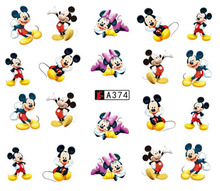 Nail Art Sticker Slider Water Decals Cartoon Mickey Mouse Happy Nails Stickers Design Decoration Manicure Foil Wraps Pegatinas