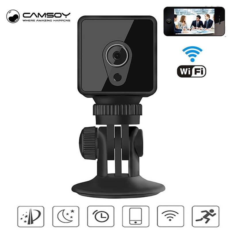 Mini caméra Camsoy S1 H.264 WiFi Cookycam 1080 P HD IP P2P Vision nocturne détection de mouvement moniteur à distance caméra de sécurité à domicile-in Mini caméscopes from Electronique    1