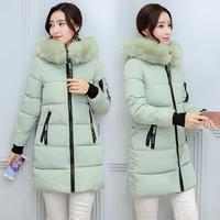 New Green Silver Fashion Autumn Winter Jacket Women 5 Size Parka Coat Can Wear Coats Cotton