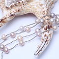 Boho картофеля жемчужное ожерелье из бисера цепи и ссылка ожерелье ювелирные изделия женщины длинное ожерелье цепь для партии