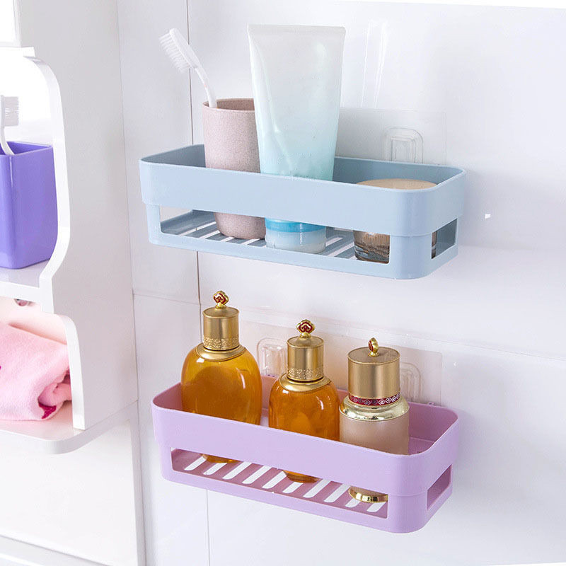 2017 Wall Stick Type Bathroom Kitchen Corner Storage Rack