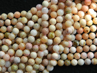 Free Shipping Natural 10mm Pink Opal Smooth Round Loose Beads For Jewelry Making