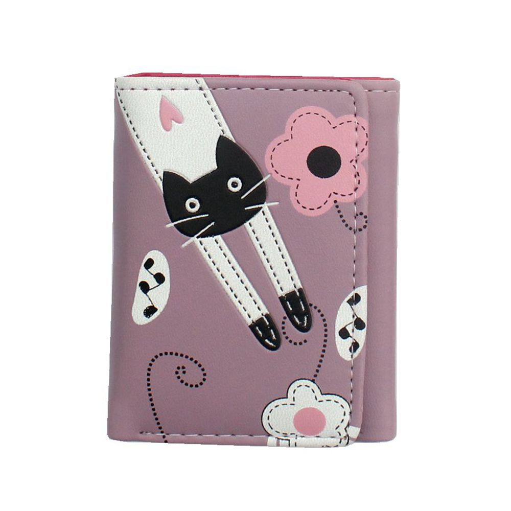 2018 new women cute cartoon cat style coin purse girl clutch short wallet change purse Ladies PU leather card holder handbag 35# naivety drop shipping women cute coin purse pu leather cartoon rabbit printing short wallet animal monedero de la moneda 28s7626