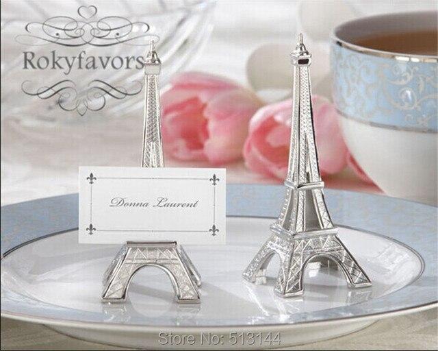 Free Shipping 50pcs Romantic Paris Themed Eiffel Tower Silver Finish