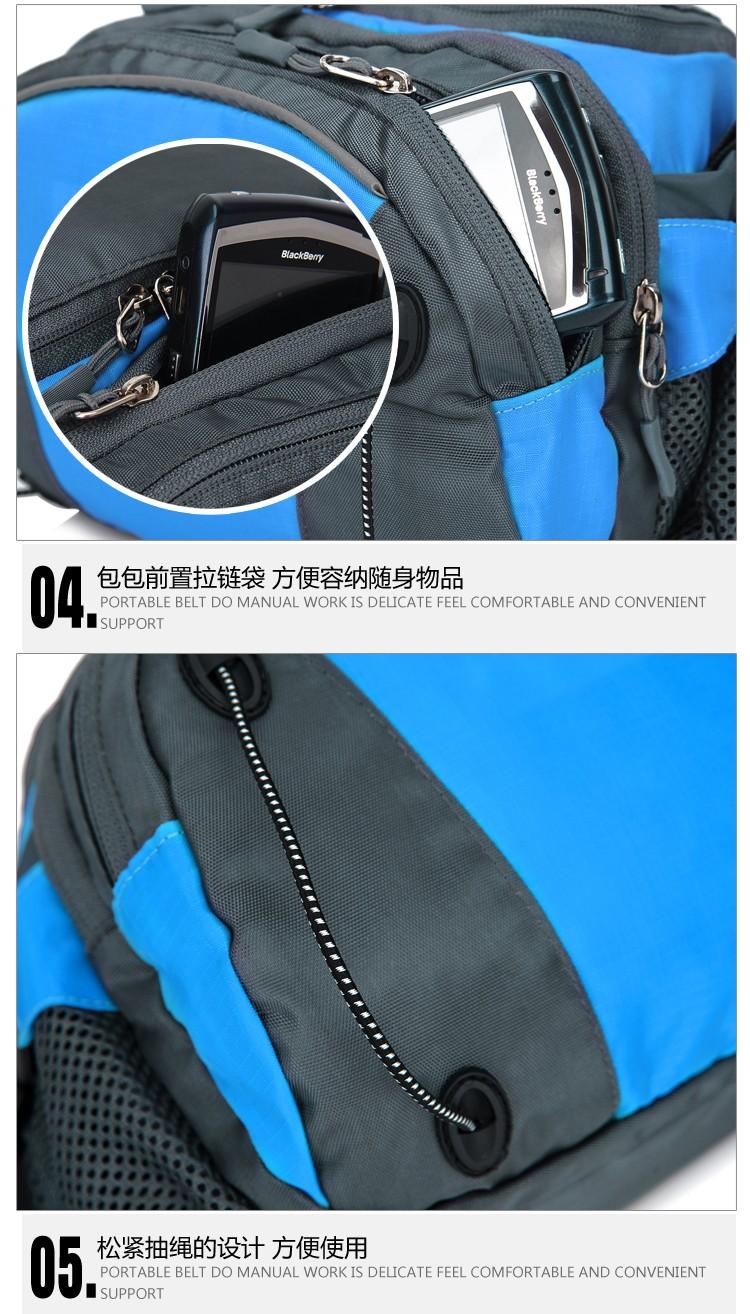 Men Women Sport Waist Bag Pack Backpack With Bottle Holder Outdoor Exploration Travel Casual Cycling Gym Storage Bag Packs (21)