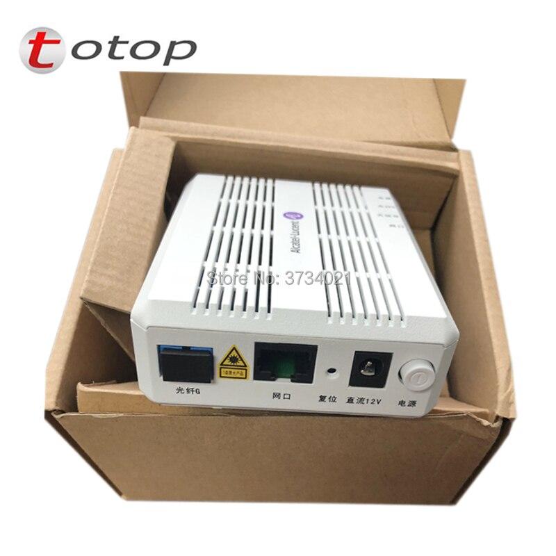 Nueva versión en inglés Alcatel Lucent I-010G GPON ONU/ONT Terminal de red óptica FTTH ONT 1 puerto GE
