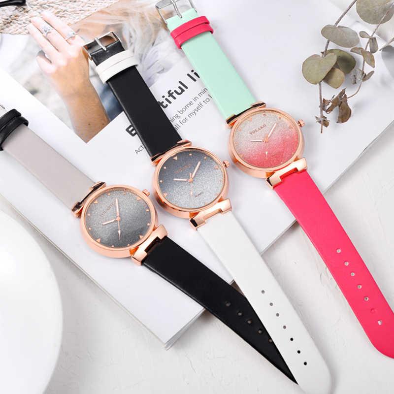 Multicolore gommage Quartz genève unisexe mode montre horloges or Rose Gel de silice sangle décoration de fête montre-bracelet zegarek damski