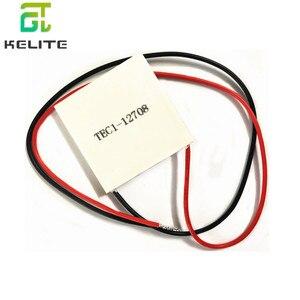 Image 1 - 10pcs TEC1 12708 DC 12V 8A TEC Thermoelectric Cooler Peltier TEC1 12708 40*40M Peltier Elemente Module Heatsink Cooling Plate