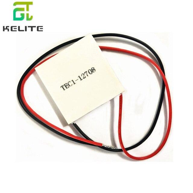 10pcs TEC1 12708 DC 12V 8A TEC Thermoelectric Cooler Peltier TEC1 12708 40*40M Peltier Elemente Module Heatsink Cooling Plate