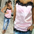 4 Colors 2017 New Arrival Fashion Sexy Women Solid Camis Summer Casual Lace Patchwork Vest Top Sleeveless Tank Tops Shirt S-XL