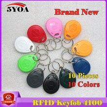 10 шт. RFID бирка в виде брелка для ключей брелок кольцо жетон 125 кГц бесконтактная ID карта чип EM 4100/4102 для контроля доступа посещаемость