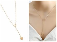 New European and American Fashion Personality Heart Pendant Womens Y-necklace Wholesale Cross Necklace